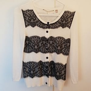 Anthropologie Knitted & Knotted Cardigan, Lace